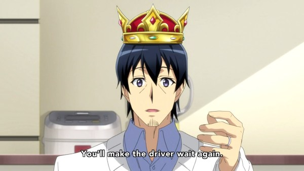This looks so wrong. Coincidentally, it's a representation of everything this show knows about monarchy.